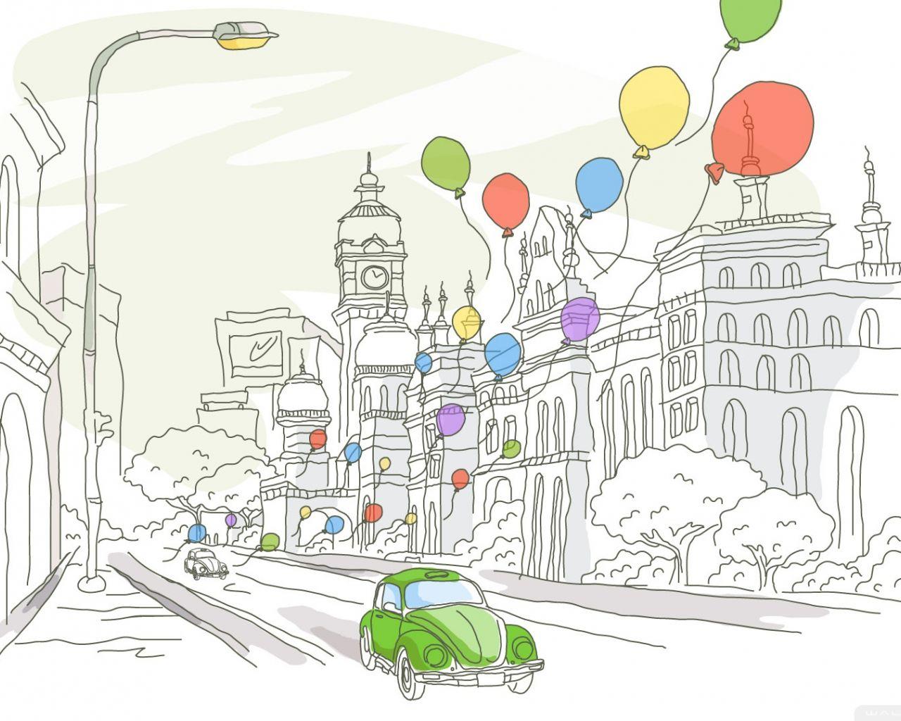 Рисунок на день город