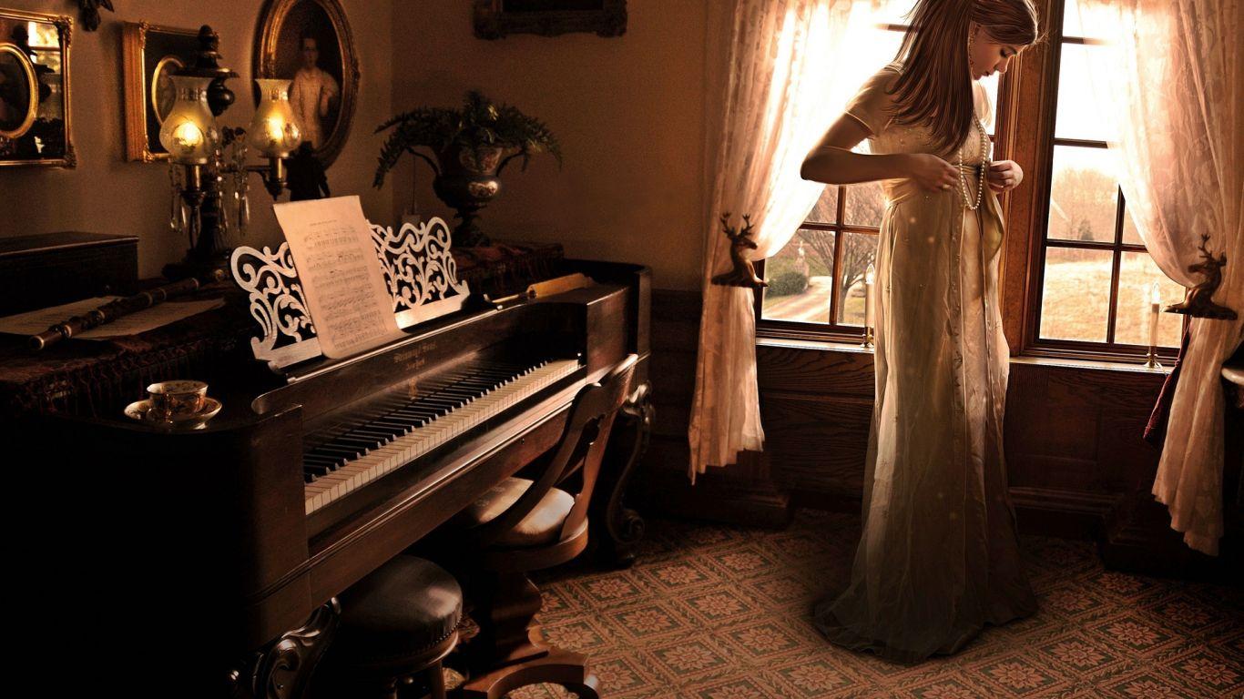 Смотреть женщина играла на пианино пришел рабочий и выебал ее 9 фотография