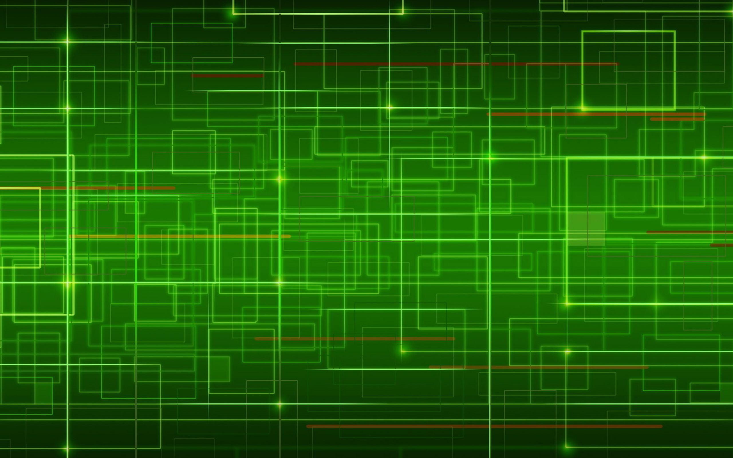 Зеленые абстрактные картинки 6