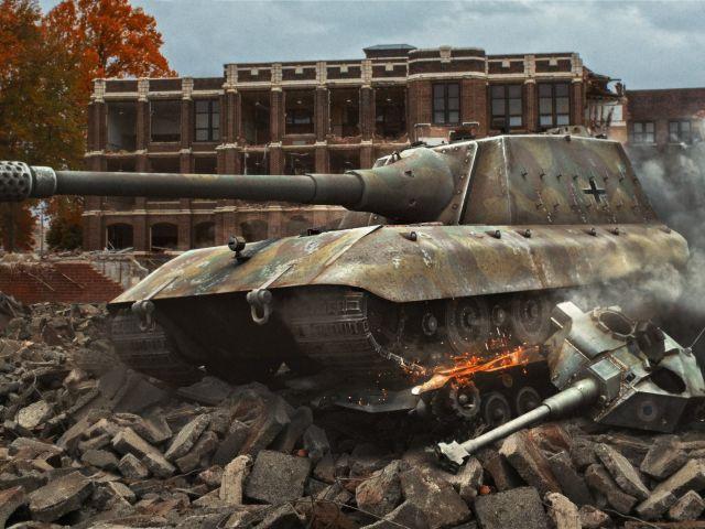 Стрим игры Ground War: Tanks от Готи (stream, обзор игры). Самый читерный танк