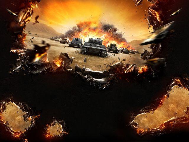 Игры, танки, игра, взрыв, wot, world of tanks. скачать фото Игры, танк